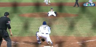 fubon guardians scott richmond lying down get force out