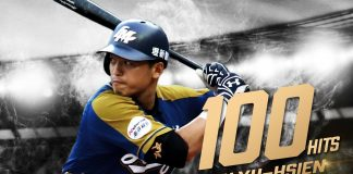 lamigo monkeys chu yu hsien career 100 hits