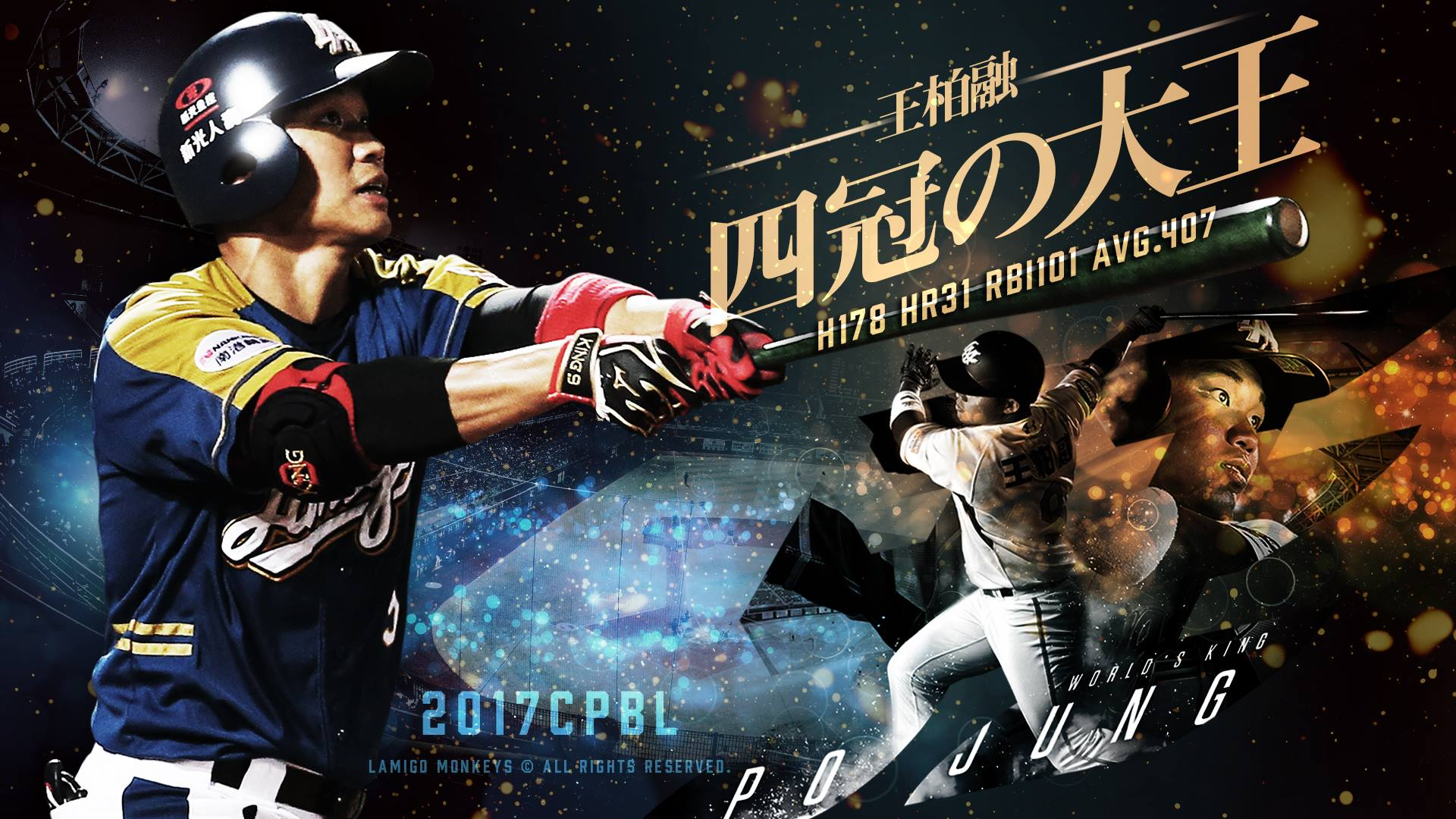 Meet your 2017 CPBL Quadruple Crown Winner Wang Po-Jung
