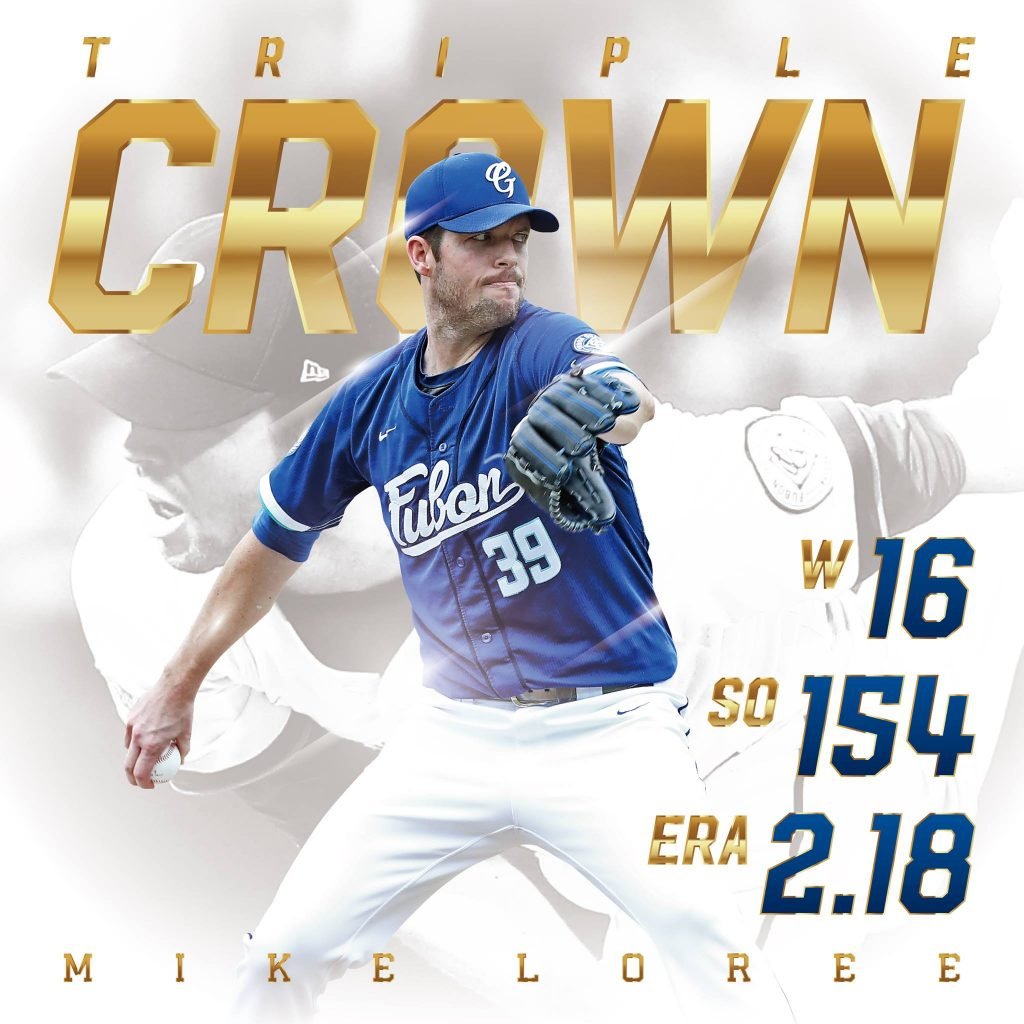 CPBL 2017 pitching triple crown winner Mike Loree