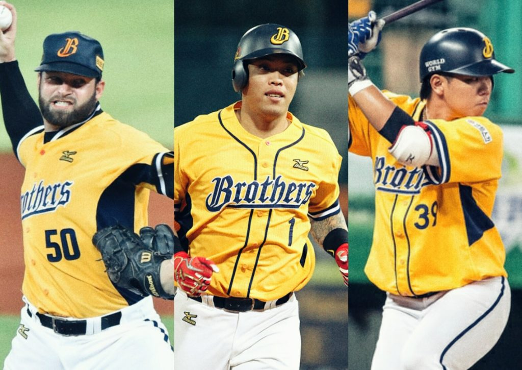 The 3 key players from Chinatrust Brothers in 2017 Taiwan Series