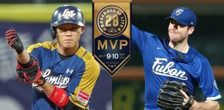 CPBL September and October MVP Mike Loree and Wang Po-Jung
