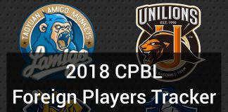 2018 CPBL Foreign Players Trackers