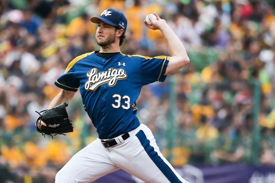 Darin Downs signed by Lamigo Monkeys for 2018 CPBL season