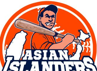 International baseball team Asian Islanders team logo