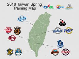 2018 CPBL KBO Taiwan Spring Training Locations