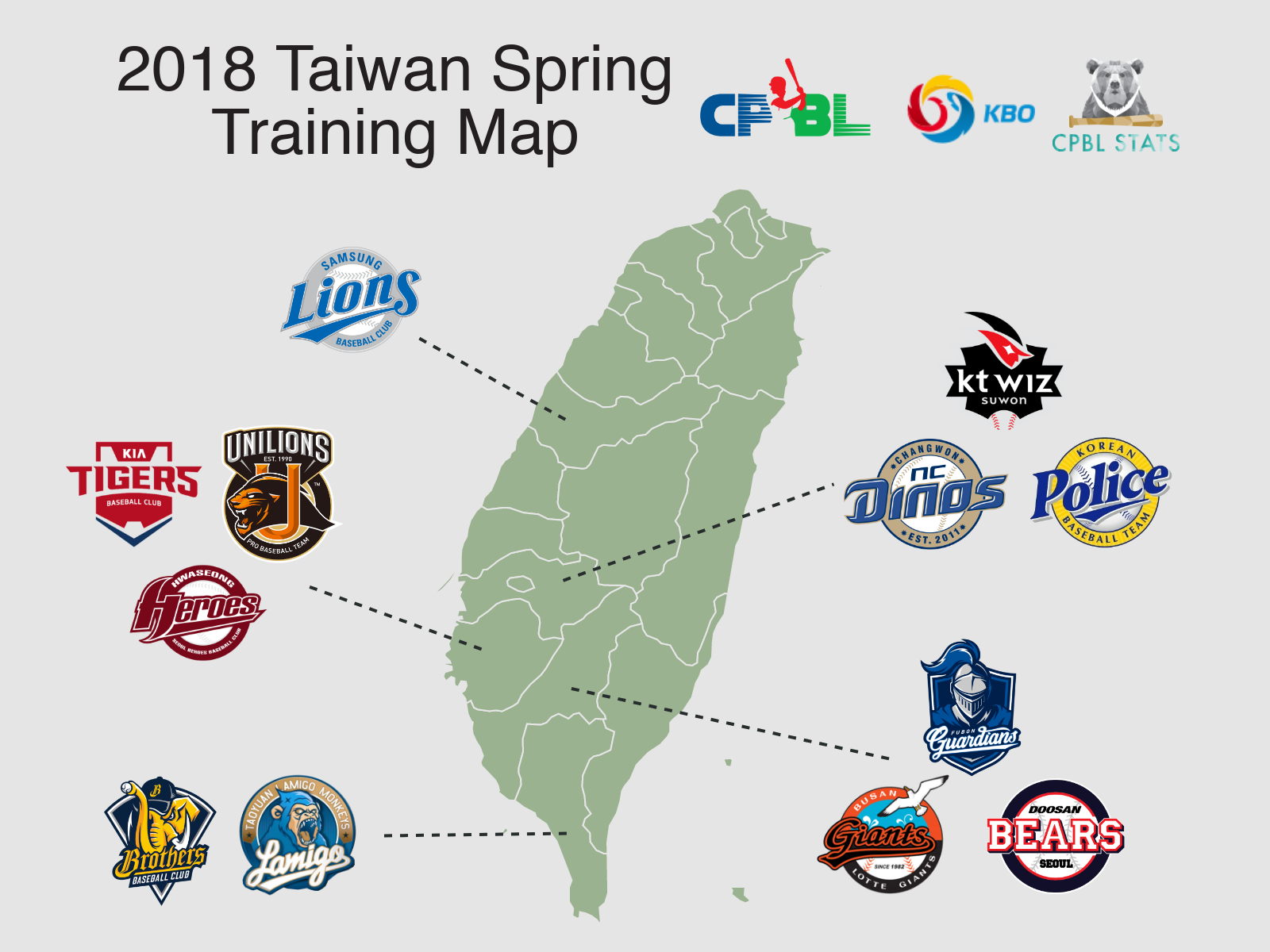 2018 cpbl kbo spring training locations in taiwan cpbl stats. Black Bedroom Furniture Sets. Home Design Ideas