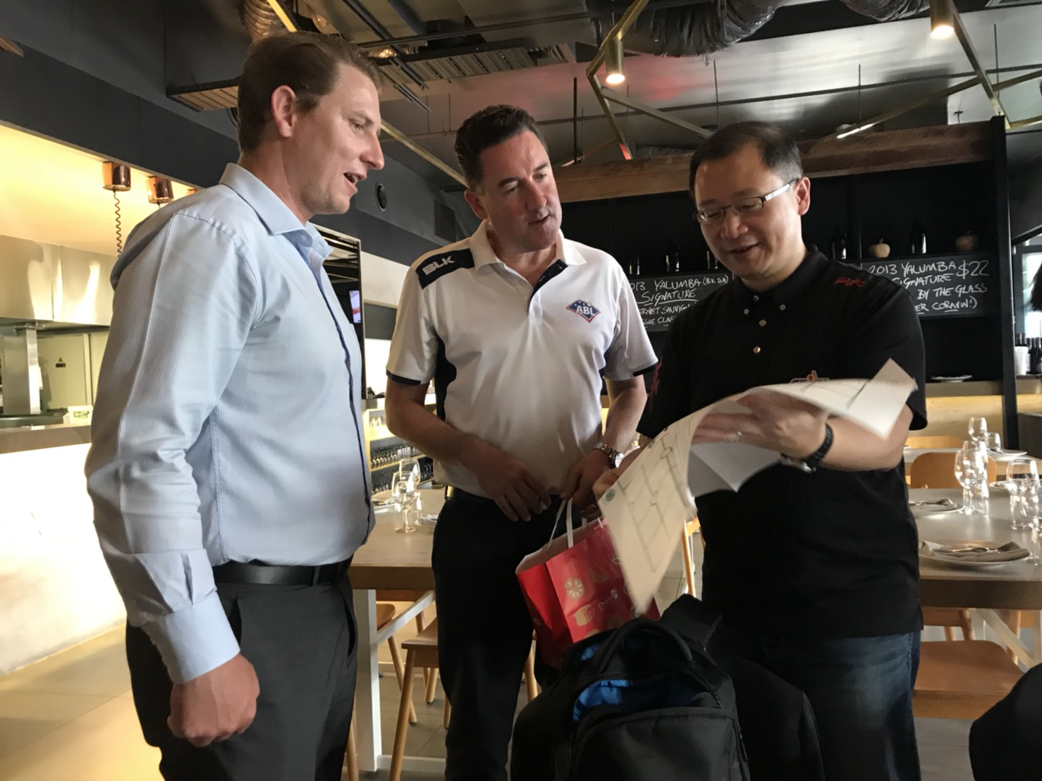CPBL commissioner Wu Chih-Yang meeting with ABL CEO Cam Vale