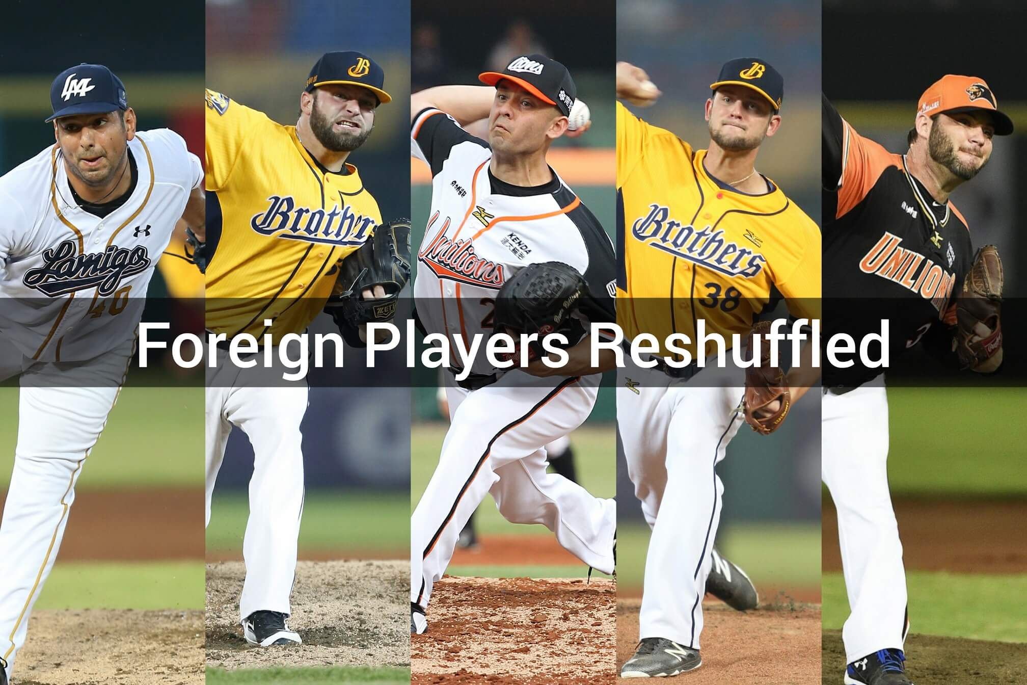 2018 CPBL foreign players reshuffled