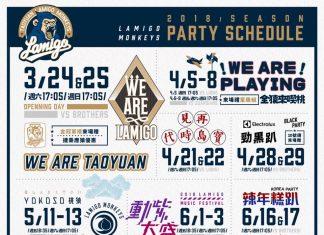 Lamigo Monkeys 2018 theme nights schedule for first half season