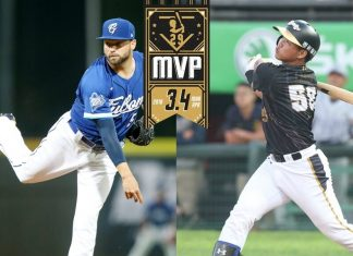 CPBL March and April MVP Liao Chien-Fu and Bryan Woodall