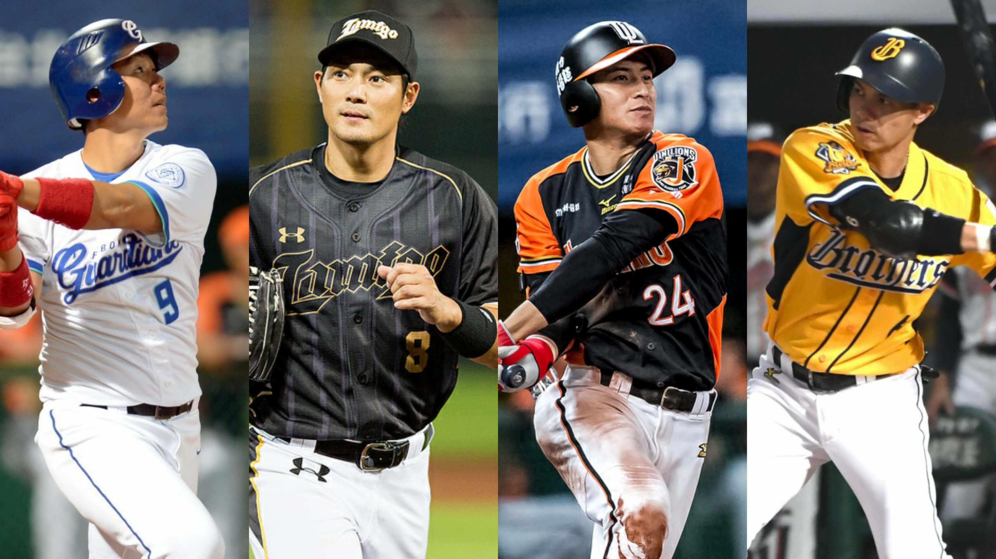 Former Taiwan Power Company players now in the CPBL