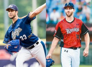 Lamigo Monkeys have released LHP Darin Downs and call up RHP Zeke Spruill