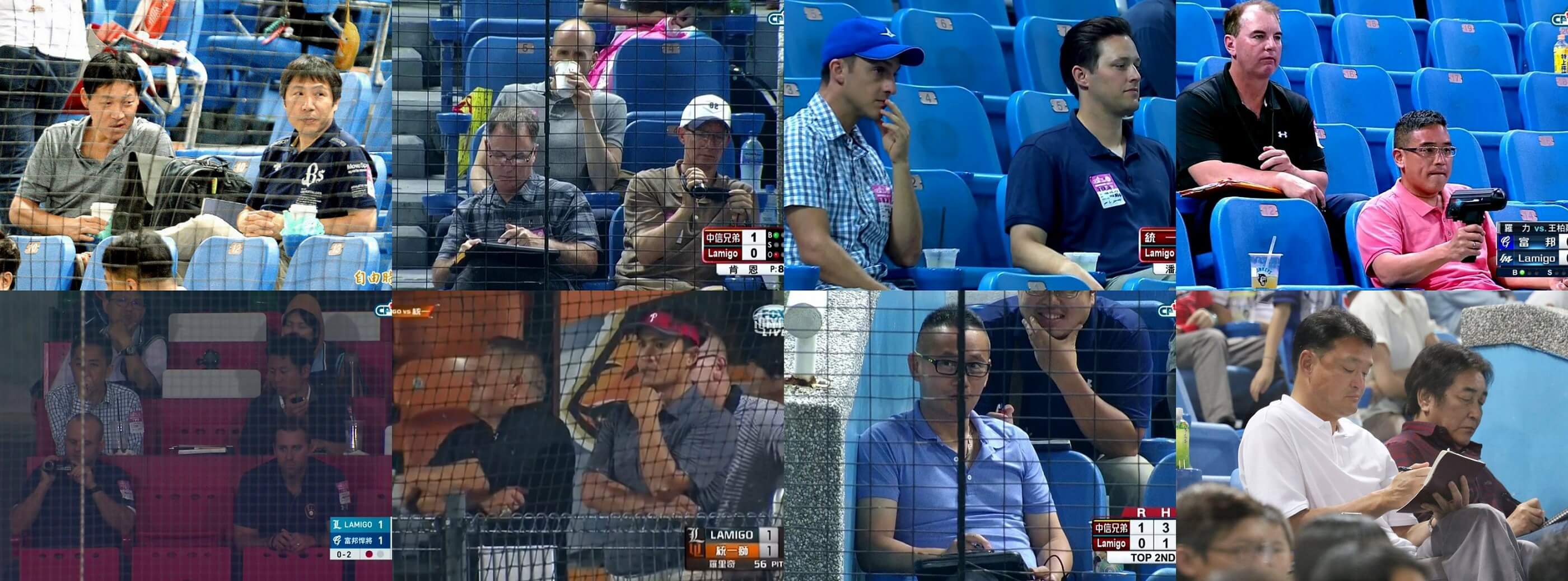 scouts from the MLB, NPB can be spotted all the time at CPBL games watching Wang Po-Jung